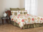 Red/Green Yellow Tiger Lily Duvet Cover Set