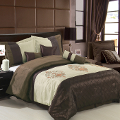 Pacifica Coffee /Beige Comforter Set