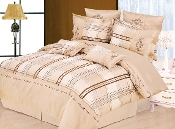 Beige Chocolate, Gold Madison 7-Piece Duvet Cover Set,