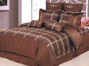 Chocolate Gold Madison 7-Piece Duvet Cover Set