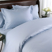 Stripe Blue Down Alternative Bed in A Bag