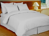 Stripe White Down Alternative Bed in A Bag 100% Egyptian cotton,