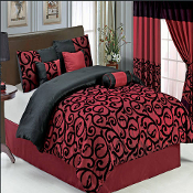 The colors of this set are a combination of Burgundy and Black