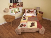 Cowboy Kid Bedding Quilt Set