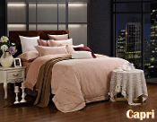 Capri Beige Pink Duvet Cover Luxury Cotton Bedding