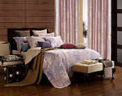 Pandora Blue 6 Piece Duvet Cover Luxury Linen Bedding Set