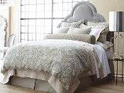 Baroque Linen Duvet Cover & Shams by Peacock Alley