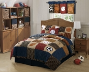 Hockey, Football, Baseball, Soccer Basketball Quilt Set