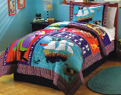 Pirate Treasure Kids Bedding Quilt Set