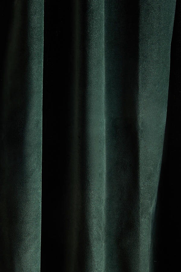 forest green velvet drapes with lining
