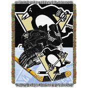 Pittsburgh Penguins NHL Woven Tapestry Throw Blanket