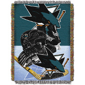 San Jose Sharks NHL Woven Tapestry Throw