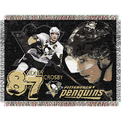 Pittsburgh Penguins Sidney Crosby #87  NHL Woven Tapestry Throw