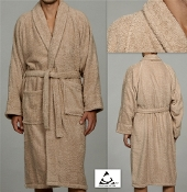 Taupe Unisex Terry Bath Robe