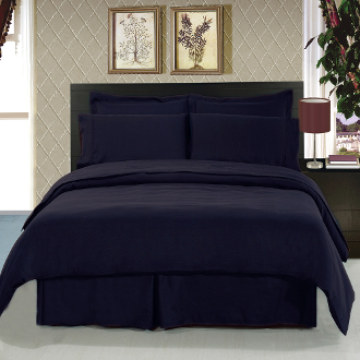 Navy 8 Piece Duvet Cover Set