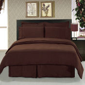 Chocolate 8 Piece Duvet Cover Set