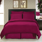 Burgundy 8 Piece Duvet Cover Set