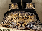safari theme and decorate with spectacular pictures of cheetahs on a black background
