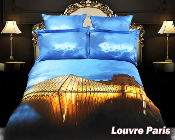 Louvre Paris Duvet Cover Sheets Set