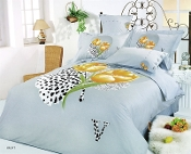 Hayat Queen  Gold Poppies 6PC Duvet Cover Set