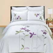 South Garden Embroidered 3 PC Piece Duvet Set