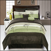 Portland Sage Coffee 8 Piece Comforter Set