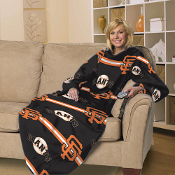 San Francisco Giants MLB Adult Stripes Comfy Fleece Throw