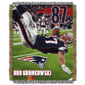 New England Patriots Rob Gronkowski NFL Woven Tapestry Throw
