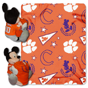 Clemson Tigers NCAA Mickey Mouse with Throw Combo