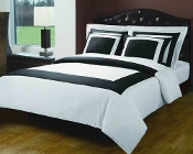 White & Black Hotel Duvet Cover Set