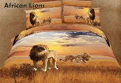 African Lions 6PC Duvet Cover Set