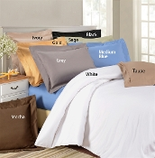 Luxury Duvet Cover Sets Solid 1500 TC  Egyptian Cotton