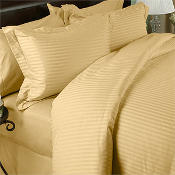 Stripe Gold Down Alternative Bed in a Bag 100% Egyptian Cotton