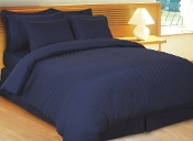Navy Stripe Sateen Stripe Duvet Cover 8 PC Set