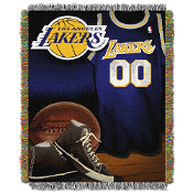 Los Angeles Lakers NBA Woven Tapestry Throw