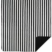 Black White Stripe Blanket Throw by Denali