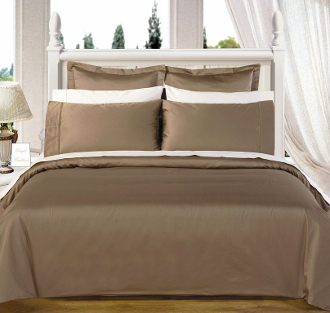 Taupe Olympic Queen Solid Bed in A Bag