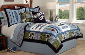 Catch a Wave Kids Bedding Quilt Set