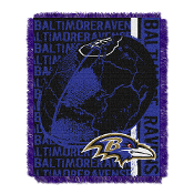 "Baltimore Ravens NFL Triple Woven Jacquard Throw (Double Play) (48""x60"")"