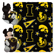 Iowa Hawkeyes NCAA Mickey Mouse with Throw Combo