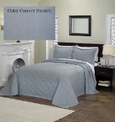 French Tile Bedspread Dusty Blue