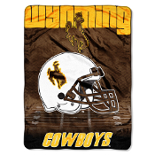 Wyoming Cowboys NCAA Micro Raschel Blanket