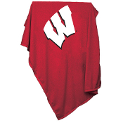 Wisconsin Badgers NCAA Sweatshirt Blanket Throw