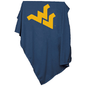 West Virginia Mountaineers NCAA Sweatshirt Blanket Throw