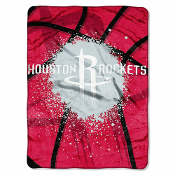 Houston Rockets NBA Royal Plush Raschel Blanket