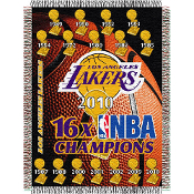 Los Angeles Lakers 16x NBA Champs Commemorative Woven Tapestry