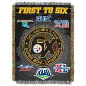 Pittsburgh Steelers NFL Super Bowl Commemorative Woven Tapestry
