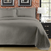 Diamante Grey Matelasse Coverlet