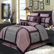 Purple Gray Morgan 8-Piece Comforter Set