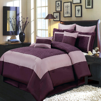 Wendy Purple 8-Piece Comforter Set